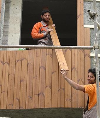 پروژه در حال اجرا نمای ساختمان ترمووود