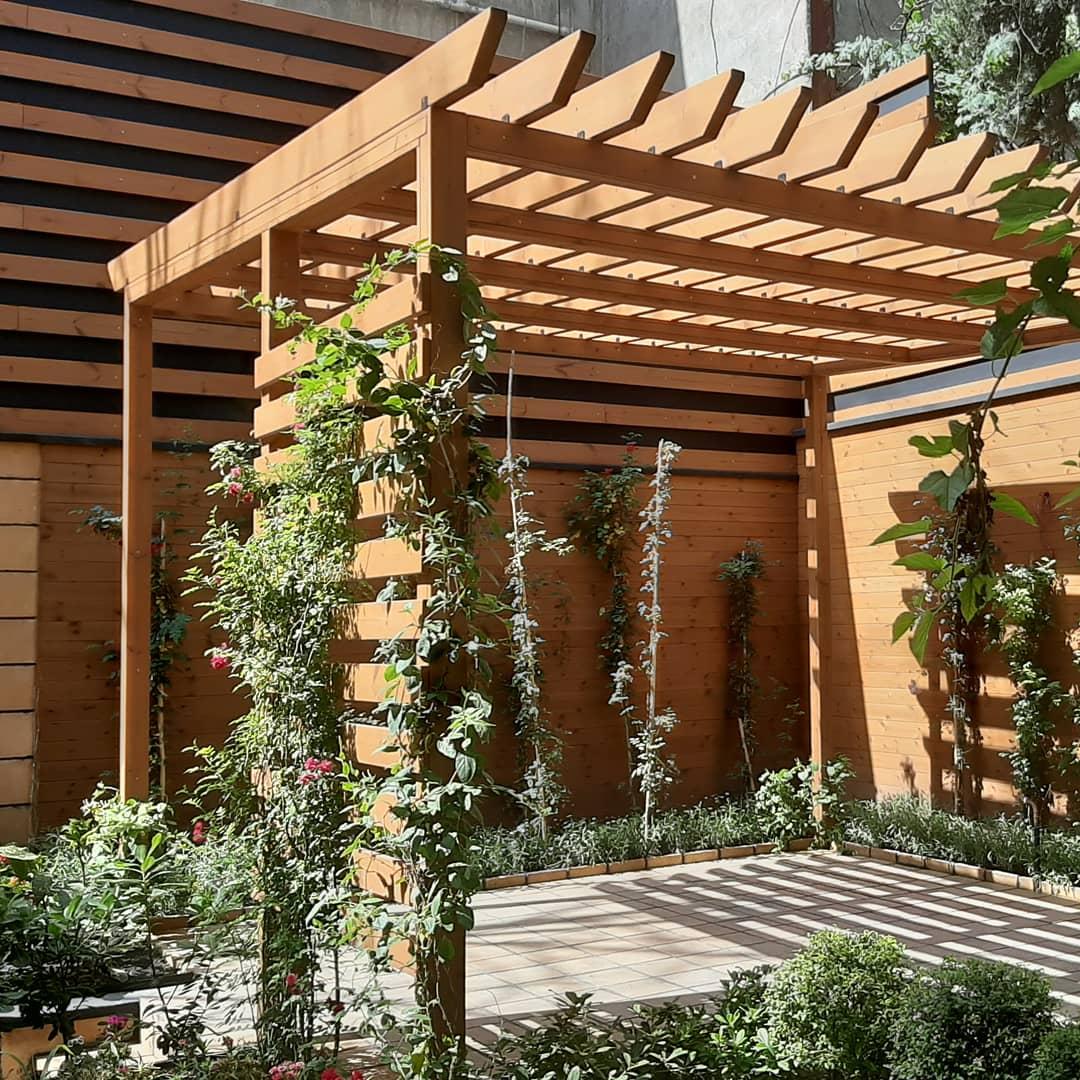 پروژه ی دیوار حیاط و پرگولا – خرمشهر